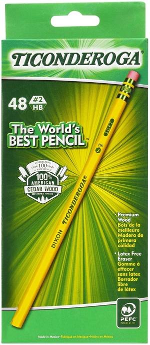 ihocon: TICONDEROGA Pencils #2 HB Soft, 48-Pack 鉛筆