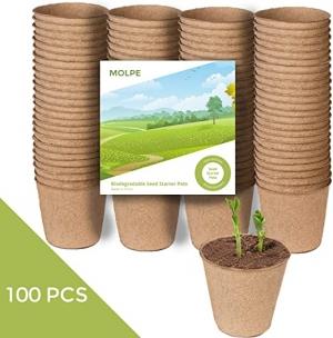 ihocon: MOLPE 100 Pack Biodegradable Seed Starter Pots 環保種子發芽盆