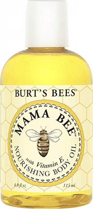 ihocon: Burt's Bees 100% Natural Mama Bee Nourishing Body Oil, 4 Fl Oz 孕婦滋養身體油