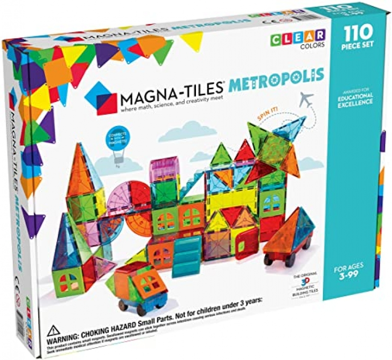 ihocon: Magna Tiles Metropolis Set (110 Pieces) 磁性積木