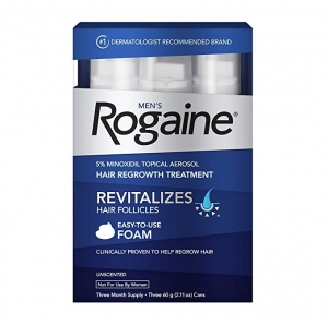 ihocon: Men's Rogaine 5% Minoxidil Foam for Hair Loss and Hair Regrowth, 3-Month Supply,2.11 Ounce (Pack of 3) 落健男士生髮泡沫3個月份
