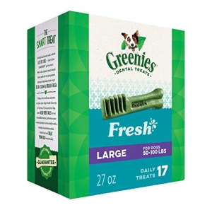 ihocon: GREENIES Fresh Natural Dental Dog Treats, 27oz Pack 狗狗潔齒零食