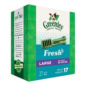 ihocon: GREENIES Fresh Natural Dental Dog Treats, 27oz Pack 狗狗潔齒零食