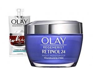 Olay Retinol晚霜 1.7oz + 1周份日霜試用包 $32.89免運(原價$46.99)