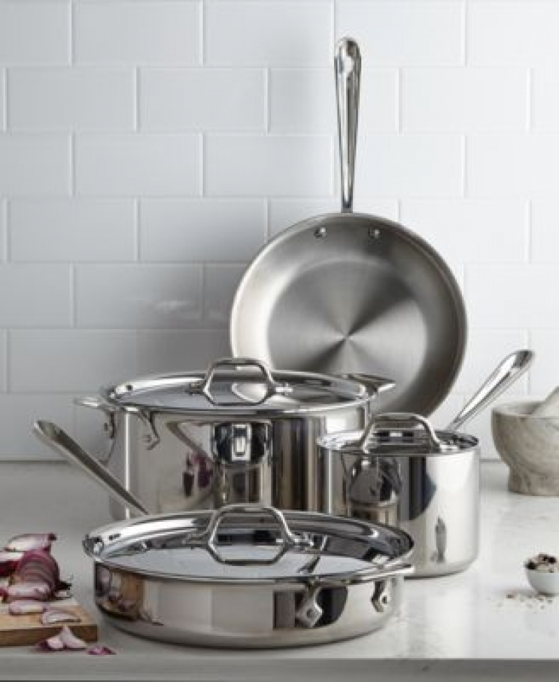 ihocon: All-Clad Stainless Steel 7-Pc. Cookware Set 不銹鋼鍋組