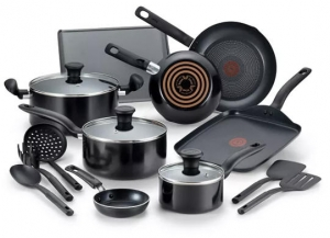 ihocon: T-Fal Culinaire 16-Pc. Nonstick Aluminum Cookware Set 不沾鍋組