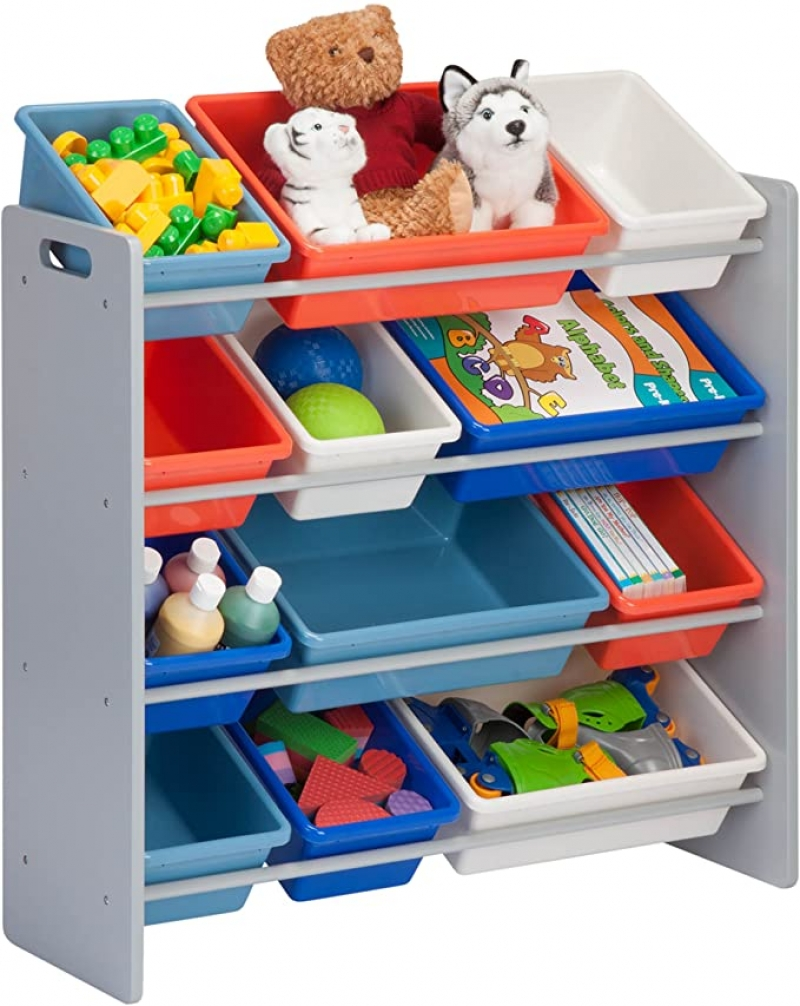 ihocon: Honey-Can-Do Kids Toy Organizer and Storage Bins 兒童玩具收納架