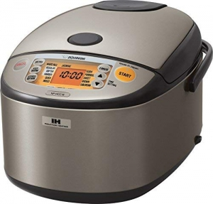 ihocon: Zojirushi NP-HCC18XH Induction Heating System Rice Cooker and Warmer, 1.8 L, Stainless Dark Gray 象印電飯鍋