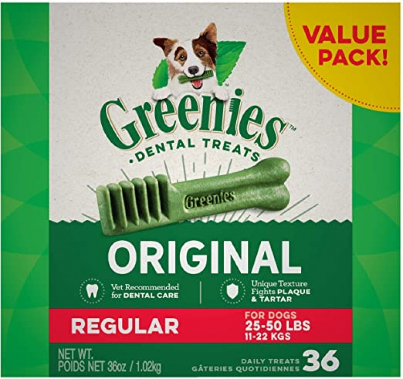 ihocon: Greenies Original Regular Natural Dental Dog Treats (25 - 50lb. )天然狗狗潔牙零食