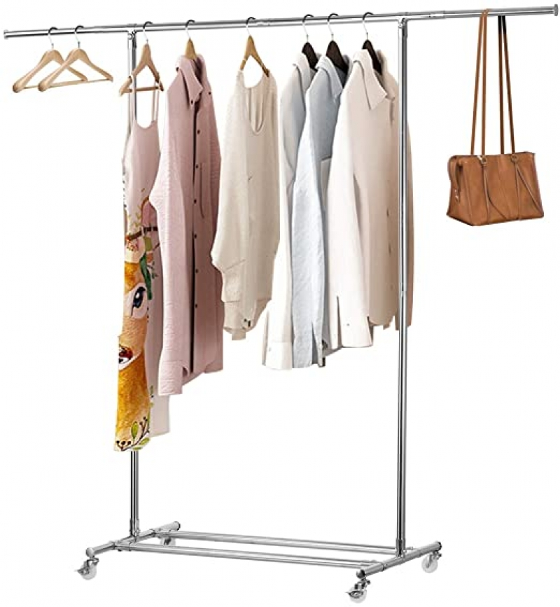 ihocon: KINGSO Clothing Garment Rack with Wheels 有輪晾衣架
