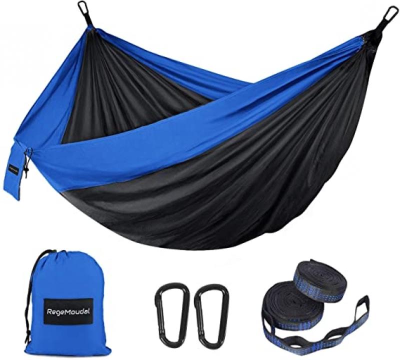 ihocon: RegeMoudal Camping Hammock with Two Tree Straps 便攜式吊床