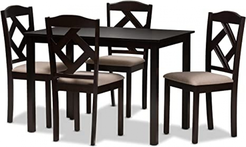 ihocon: Baxton Studio 5-Piece Dining Set 餐桌椅組