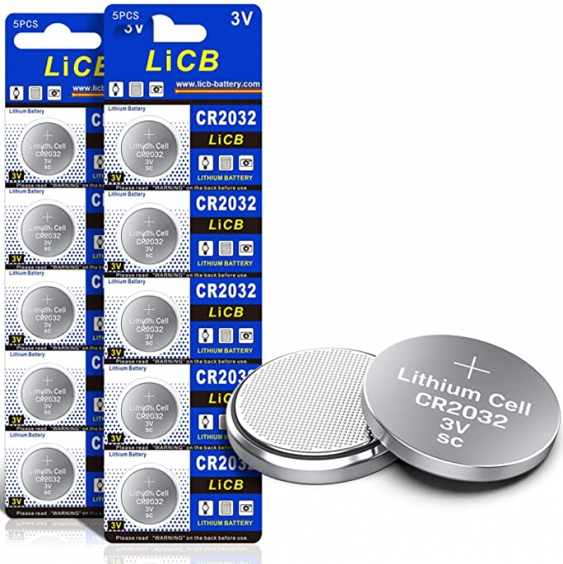 ihocon: LiCB CR2032 3V Lithium Battery(10-Pack)電池