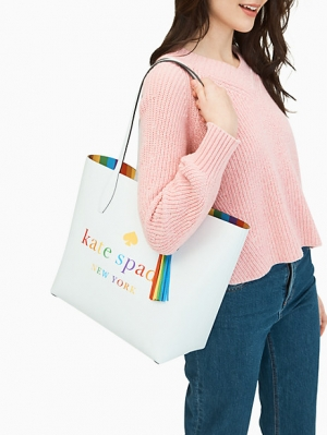ihocon: arch rainbow logo large reversible tote 彩虹托特包