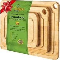 ihocon: Cookgen Bamboo Cutting Board Set of 3 With Juice Groove 竹製菜板3個