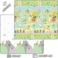 ihocon: Thread Nebula Super Soft Baby Play Mat, Reversible Roads & Mountain Theme, Non-Slip Waterproof 80 x 72 超軟雙面防水防滑兒童遊戲墊