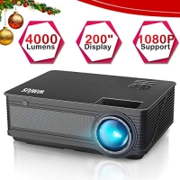 ihocon: WiMiUS P18 4000 Lumens LED Projector Support 1080P 200 Display 50,000H LED Compatible with Amazon Fire TV Stick投影機