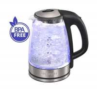 ihocon: Queen Sense Electric Water Kettle Glass Double Wall 電熱水瓶