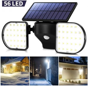 ihocon: Ousfot Solar Security Motion Sensor Outdoor 56 LED Light 太陽能動作感應室外燈