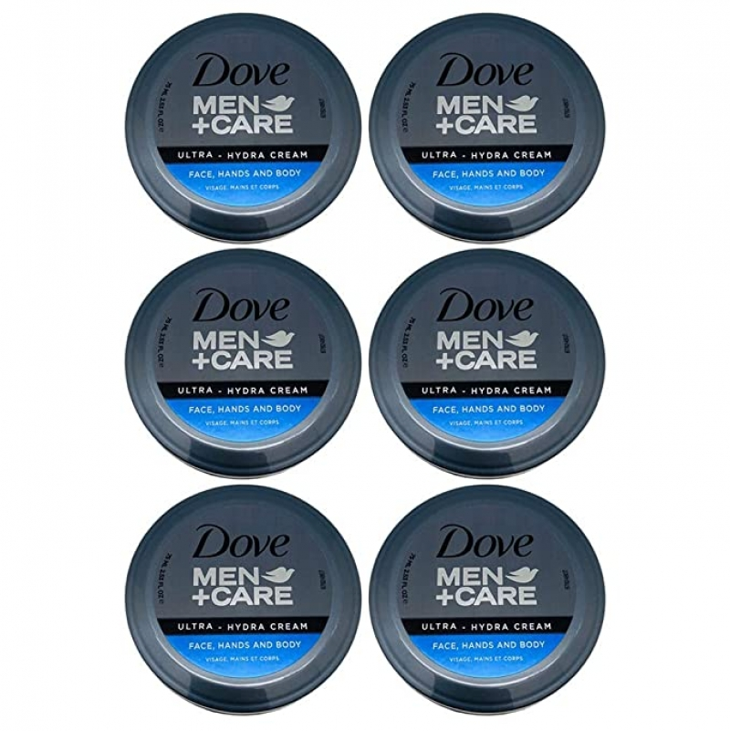 ihocon: Dove Men+Care Ultra-Hydra Cream with 24 Hour Moisturization, 2.53 FL OZ (Pack of 6) 男士萬用保濕霜