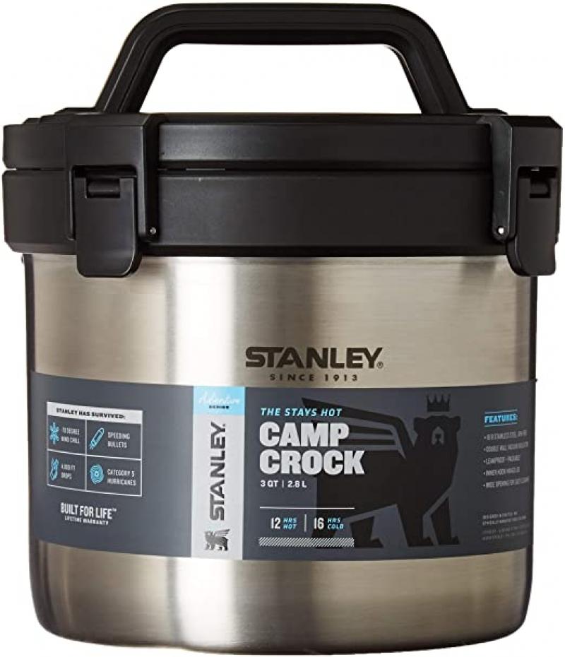 ihocon: Stanley Adventure Vacuum Crock Food Jar, Stainless Steel, 3 Quart 不銹鋼悶燒鍋