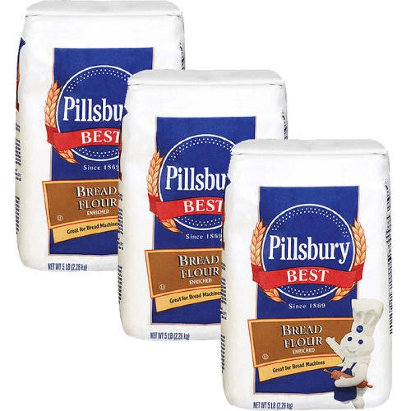 ihocon: Pillsbury Bread Flour 5 lb, Pack of 3 高筋麵粉(做麵包)