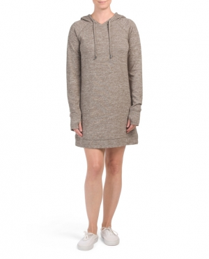 ihocon: CG CABLE & GAUGE Hooded Knit Dress With Drawstring 連帽洋裝