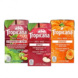 ihocon: Tropicana 100% Juice Box, 3 Flavor Variety Pack, 4.23oz, 44 Count 果汁