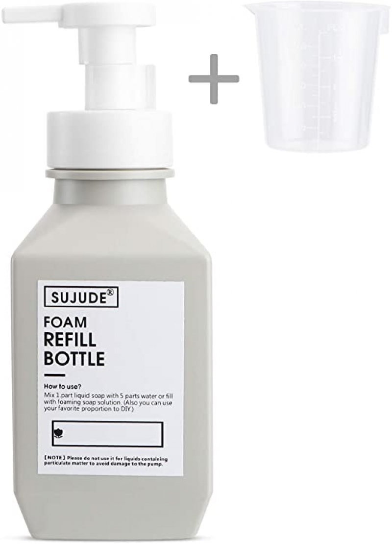 ihocon: SUJUDE Foam Soap Dispenser Plastic,  400 ml 泡沫給皂瓶(空瓶)