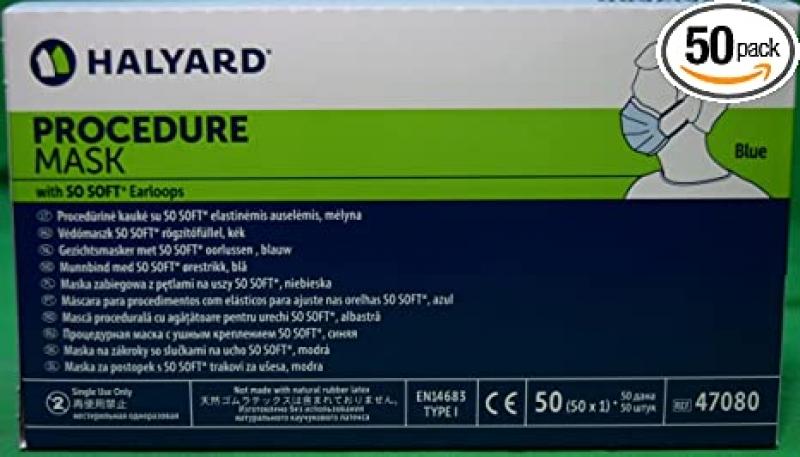 ihocon: Halyard Procedure Mask 醫用口罩 50個
