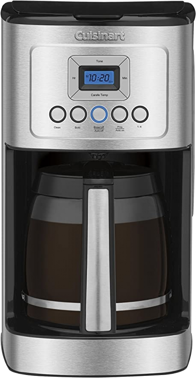 ihocon: Cuisinart DCC-3200P1 Perfectemp Coffee Maker, 14 Cup Progammable with Glass Carafe, Stainless Steel 可自訂程序咖啡機