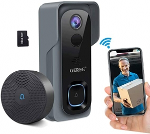 ihocon: Geree 1080P HD Security Wireless Smart Camera Doorbell with 32G Micro SD Card and Two-Way Talk 智能視頻門鈴
