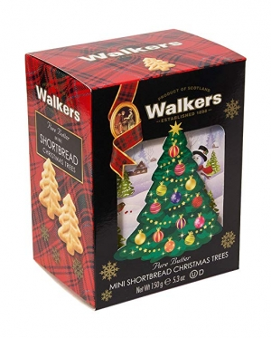 ihocon: Walkers Shortbread Christmas Tree Mini Cookies with 3D Gift Box, 5.3 Ounce 聖誕樹迷你餅乾