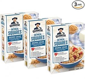 ihocon: Quaker Oatmeal Squares, Original 14.5 oz (Pack of 3)