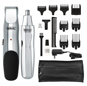 ihocon: Wahl Model 5622Groomsman Rechargeable Beard, Mustache, Hair & Nose Hair Trimmer for Detailing & Grooming 無線理髮/修容器