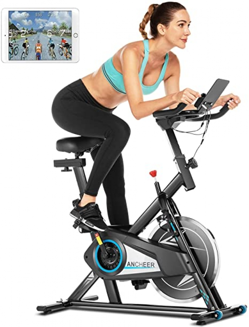 ihocon: ANCHEER Stationary Exercise Bike 健身自行車
