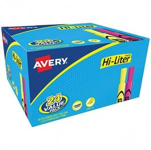 ihocon: Avery Hi-Liter Desk-Style Highlighters, 24 Assorted Color熒光筆
