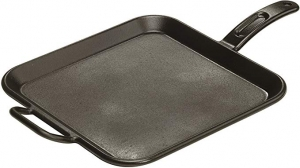 ihocon: Lodge Pro-Logic 12 Inch Square Cast Iron Griddle. Pre-Seasoned Grill Pan with Dual Handles 方形鑄鐵鍋