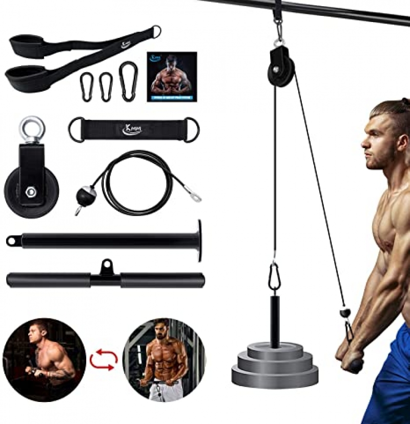 ihocon: KMM LAT Pull Down Cable Pulley Attachment Home Gym System 家用健身器材