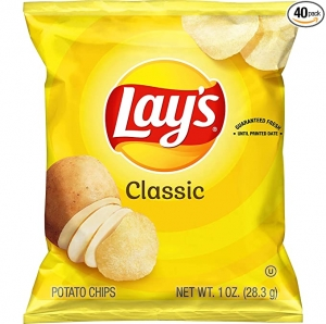 ihocon: Lay's Classic Potato Chips, 1 oz (Pack of 40)
