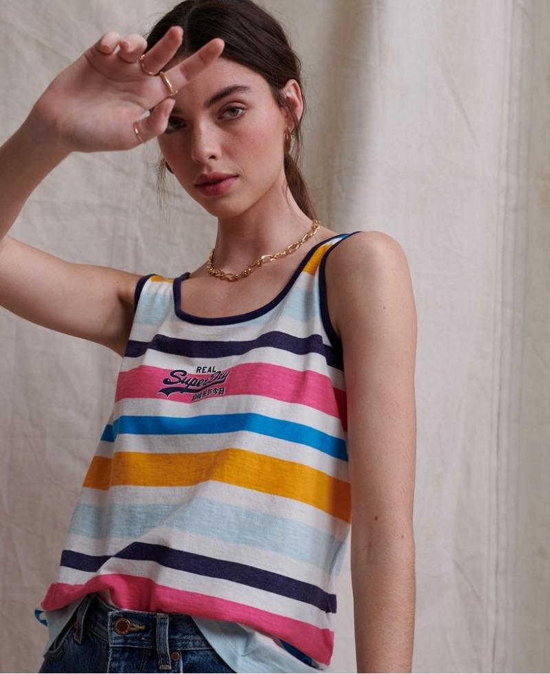 ihocon: Superdry極度乾燥  Micro Stripe Classic Vest 女士無袖衫