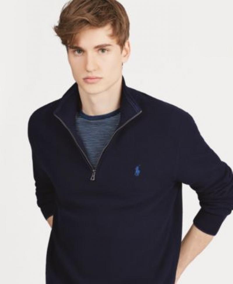 ihocon: Polo Ralph Lauren Men's Cotton Quarter-Zip Sweater 男士毛衣-多色可選