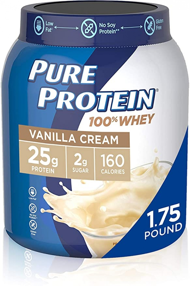 ihocon: Whey Protein Powder by Pure Protein, 1.75 Lbs 乳清蛋白粉