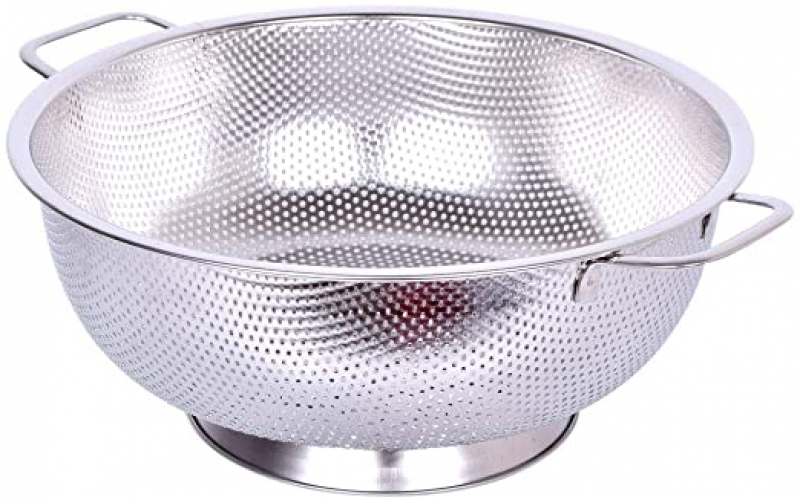 ihocon: DGEMOC Micro-Perforated 5-Quart Stainless Steel Colander with Heavy Duty Handles  不銹鋼瀝水盆