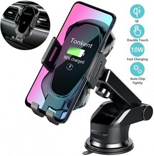 [新低價] Tonkent Qi 汽車手機無線快速充電固定架 $10.66(原價$29.99)
