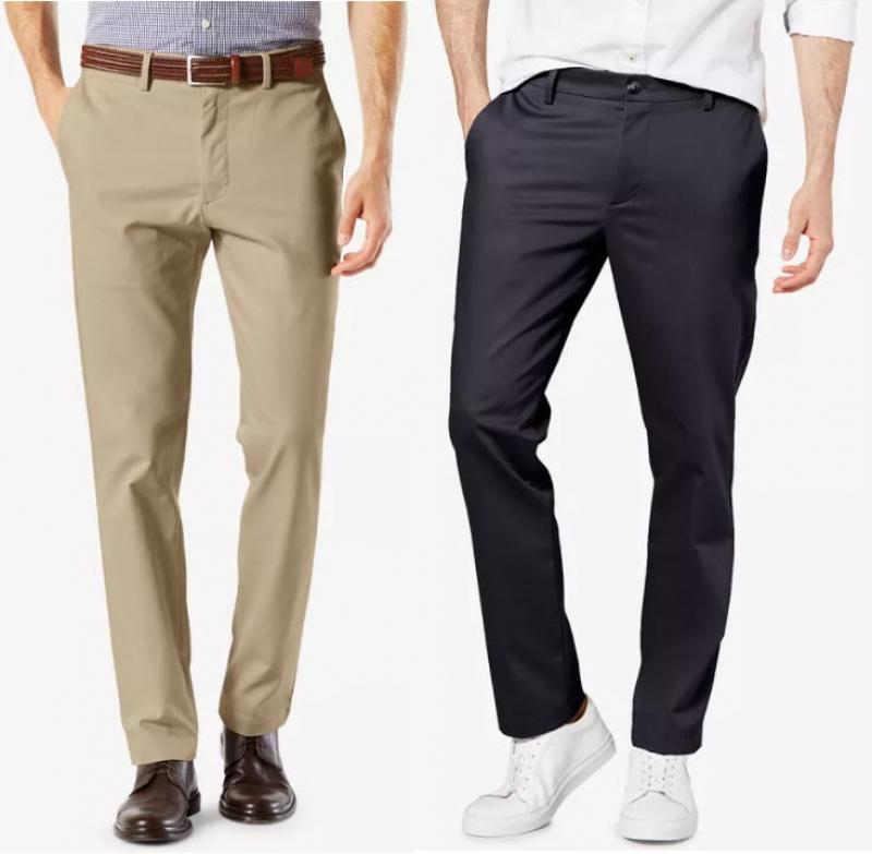ihocon: Dockers Men's Signature Lux Cotton Slim Fit Stretch Khaki Pants  男士長褲-多色可選