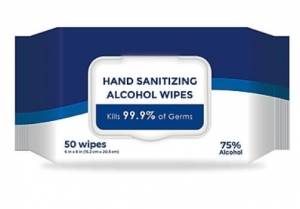 ihocon: Alcohol Wipes, Unscented, 50 Wipes Per Pack (W-075) 手部酒精消毒濕巾