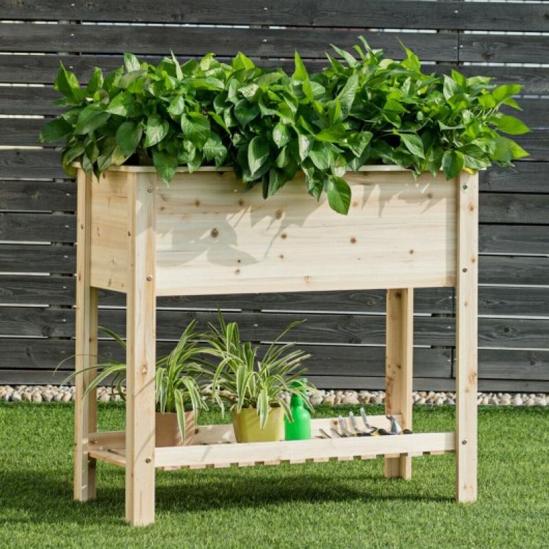 ihocon: Raised Garden Bed with Storage Shelf 高架種殖花床