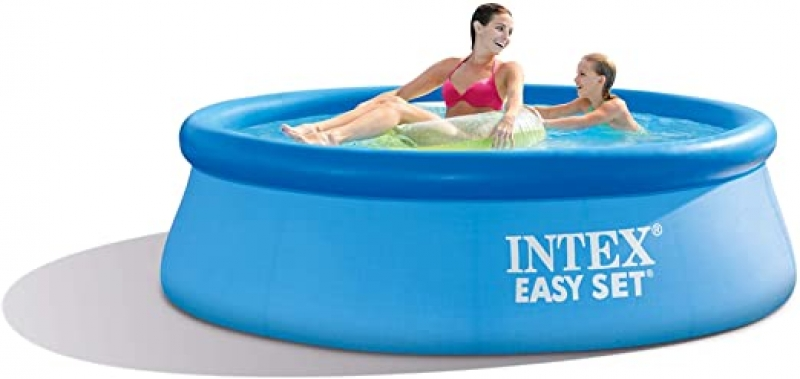 ihocon: Intex 8ft X 30in Easy Set Pool Set with Filter Pump 易安裝游泳池, 含過濾幫浦