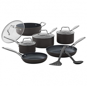 ihocon: Stone & Beam Kitchen Cookware Set, 12-Piece, Pots and Pans, Hard-Anodized Non-Stick Aluminum 不沾鍋組